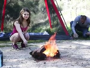 Camping Sex Outdoors With A Gorgeous Teenage Brunette