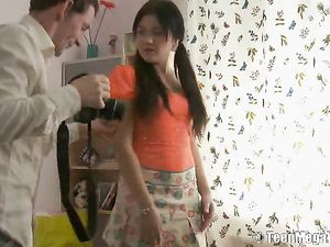 Tease In A Tiny Skirt Wants Cock Inside Her