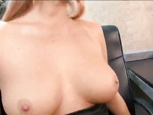 Secretary Titties Covered In A Hot Cumshot