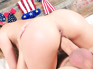 Naturally Busty Dillion Harper Fucked Hard From Behind