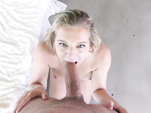 Turned On Teen Blonde Filled With His Big Cock