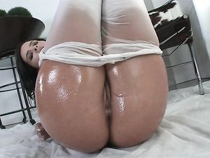 Oil Coated Keisha Grey Fucked Up The Ass
