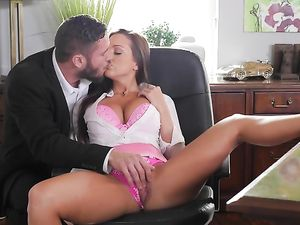 Office Slut With Fantastic Tits Fucks Her Boss