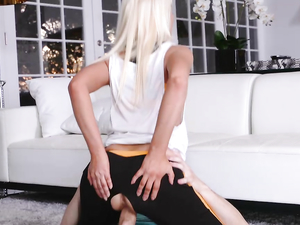 Bleach Blonde Stepmom Fucked In Her Workout Clothes